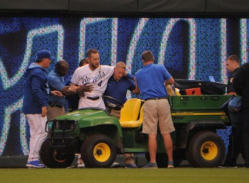 The Royals have a cart that gets injured players safely off the field, but when they all have a disease, there's no cart to save them.